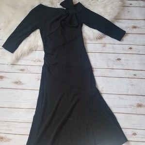 Diane Von Furstenberg vintage black bow dress